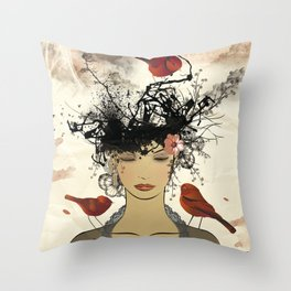 Le nid Throw Pillow