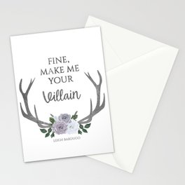 Make me your villain - The Darkling quote - Leigh Bardugo - White Stationery Cards
