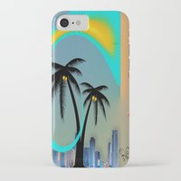 miami iPhone & iPod Cases featuring Miami by Dunksauce Art