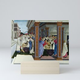 Sandro Botticelli Baptism of St Zenobius and His Appointment as Bishop Mini Art Print
