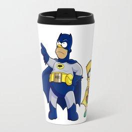 superhero batrob simpson Travel Mug