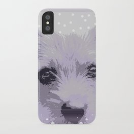 Curious little dog waiting for you - funny dog portrait iPhone Case