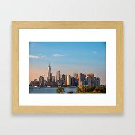 Sunny Over Manhattan Framed Art Print