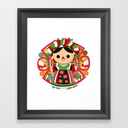 Maria 5 (Mexican Doll) Framed Art Print