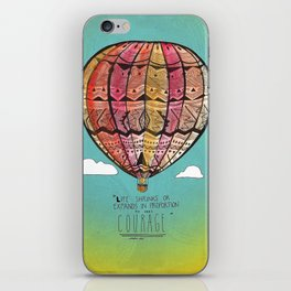 Life Expands quote iPhone Skin