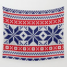 Winter knitted pattern 7 Wall Tapestry