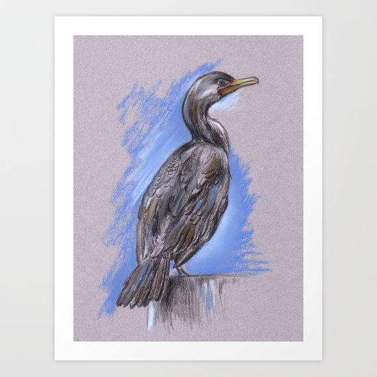 Cormorant Art Print