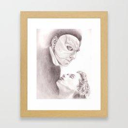 Phantom and Christine Framed Art Print
