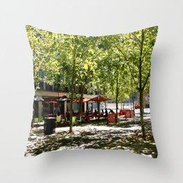 Street Cafes Throw Pillow