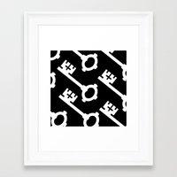 black keys Framed Art Prints featuring Keys by Alexander Studios