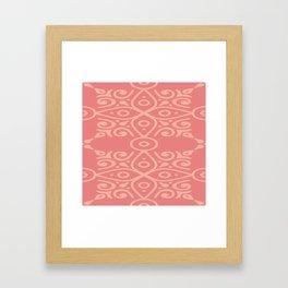 Light Pink On Dark Pink Boho Design Framed Art Print