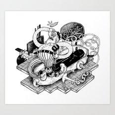 Gasfiter Galaz! Art Print
