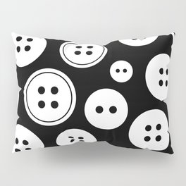 Black and White Buttons Pattern Pillow Sham
