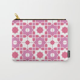 Portuguese Azulejos - Pink Palette Carry-All Pouch
