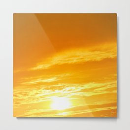 Μy Νeighborhood Sunset Metal Print