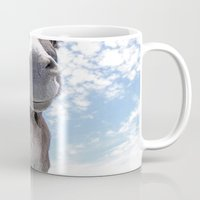 donkey Mugs featuring Funny Donkey by Claudia Otte ArtOfPictures