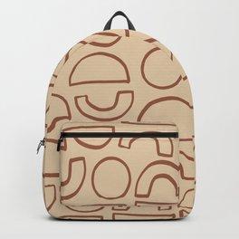 Geometric Shapes Pattern 2 in Terracotta Backpack