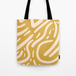 Earthy Mustard Yellow and Light Peach tribal inspired modern pattern Tote Bag