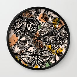 Lovely wings Wall Clock