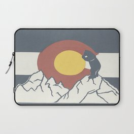 Colorado, the Big Blue Bear and the Rockies Laptop Sleeve