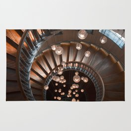 Spiral Stairs in Downtown London Rug