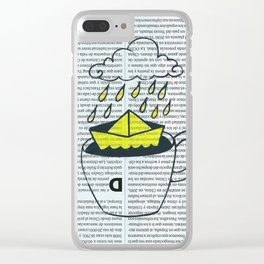 Storm in a cup of tea Clear iPhone Case