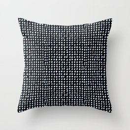 Dots (Shadowed) - White x Blue Throw Pillow