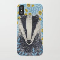 british iPhone & iPod Cases featuring British Badger by stephanie cole DESIGN