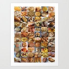 Italian Breads Montage Art Print