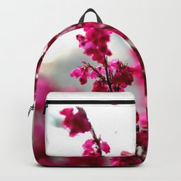 Autumn Windows Flowers Backpack