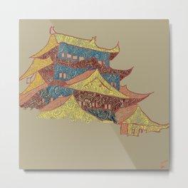 Japan in Henna Metal Print