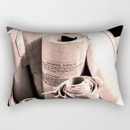 Mountain survey drawings Rectangular Pillow