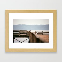 what are you thinking about?? Framed Art Print