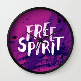 Free Spirit Magenta Wall Clock