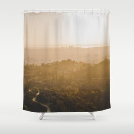 Golden Hour - Los Angeles, California Shower Curtain
