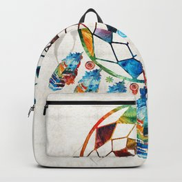 Native American Colorful Dream Catcher by Sharon Cummings Backpack