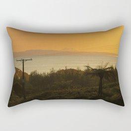 Te Kaha views featuring Putauaki - Mt Edgecombe Rectangular Pillow