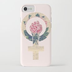 Respect, equality, women's liberation. Feminism Power Fist / Raised Fist Slim Case iPhone 7