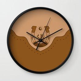 Good Fortune Gal - Peach & Rust Wall Clock
