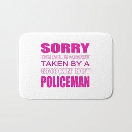 Taken By A Policeman Bath Mat