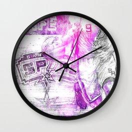 BASKETBALL POSTER Wall Clock