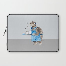 Turtle waitress coffee time Laptop Sleeve
