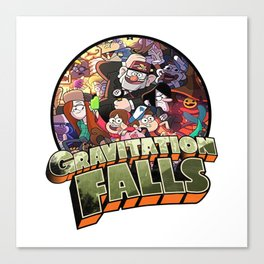 gravitation falls family Canvas Print