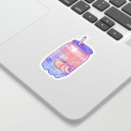 Peach Bubbles Sticker