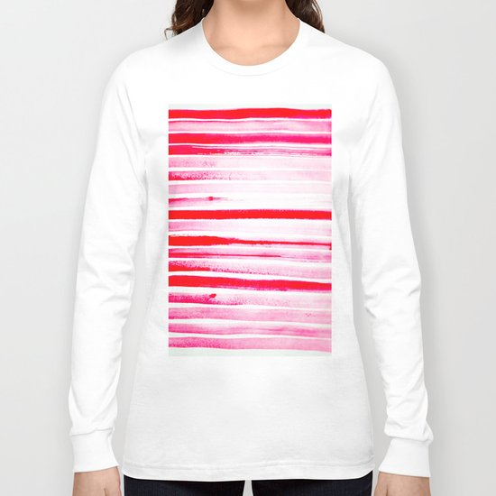 Christmas Candy Cane Red Stripe Long Sleeve T-shirt