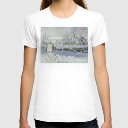 Monet, The Magpie (La Pie) (Die Elster) 1868-1869 T-shirt