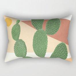 Abstract Cactus II Rectangular Pillow