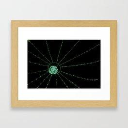 green web Framed Art Print