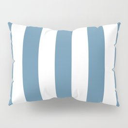 Air Force blue (RAF) - solid color - white vertical lines pattern Pillow Sham