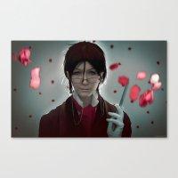 kuroshitsuji Canvas Prints featuring Sebastian Michaelis (Test submission) by Lalasosu2